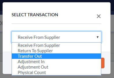 Choose Transfer Out